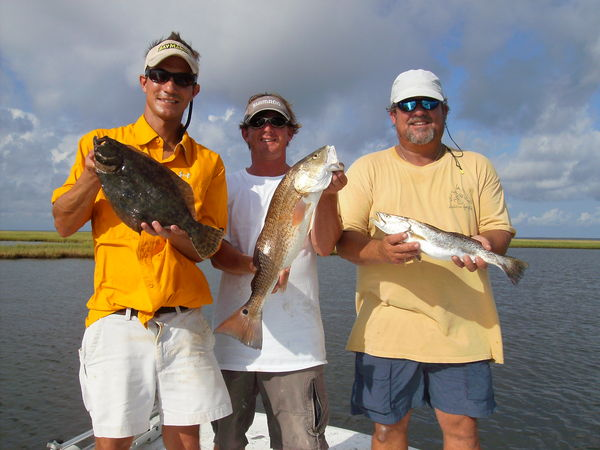 Redfish trout black drum and flounder from bay st louis ms for Mississippi fishing charters