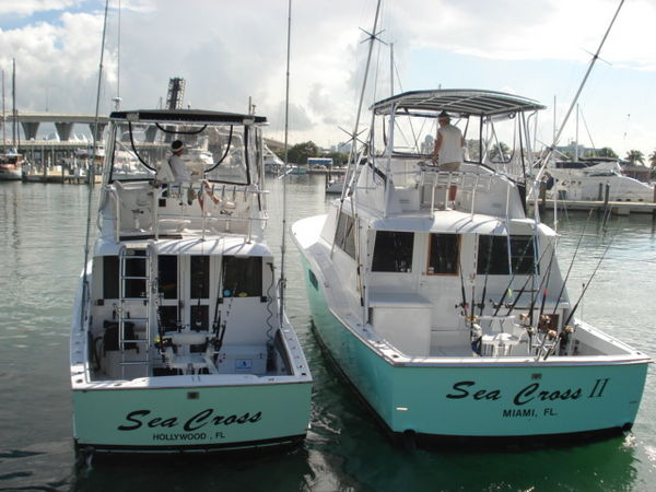 SeaCross Sportfishing Charters Of Miami Offers 3 Charter Boats To Choose From Our Deep Sea Fishing Are A Pair Air Conditioned Custom Rigged
