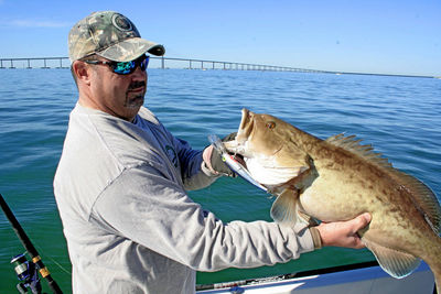 Capt mark gore with inshore gag grouper cyberangler for Skyway fishing report