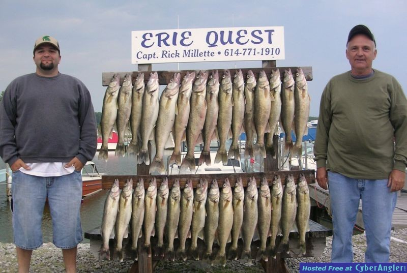 AJ and Al Sr. with a limit catch of Lake Erie walleye
