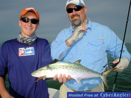 Scottie Heidler's Sarasota Bay DOA Deadly Combo Spanish mackerel caught wit