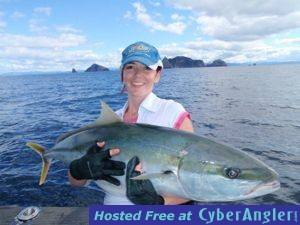 20kg Kingfish caught jigging in New Zealand with Epic Adventures