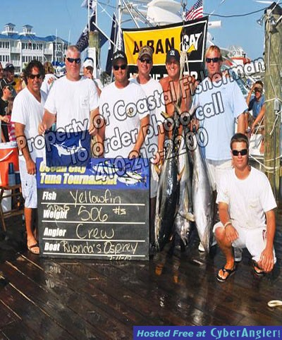 3RD PLACE OC 2010 TUNA TOURNAMENT