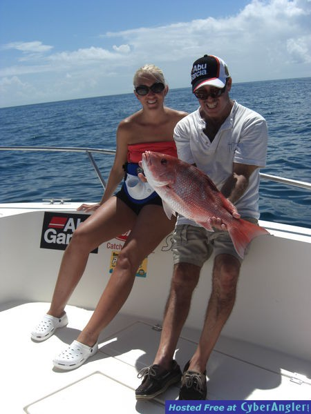 Gemma with her first Daytona Beach red snapper