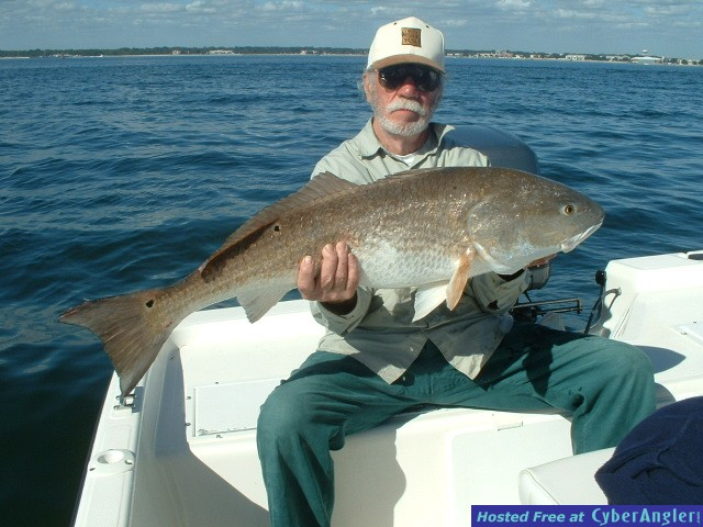 Doug Woodall with a nice 40 pound Bull Red