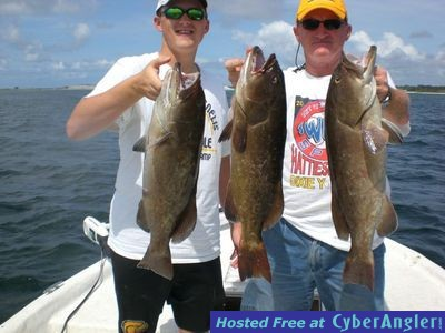 Gag grouper bite on fire in pensacola bay for Pensacola bay fishing