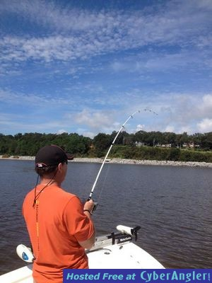 Pensacola redfish trout in challenging conditions at for Pensacola fishing forecast