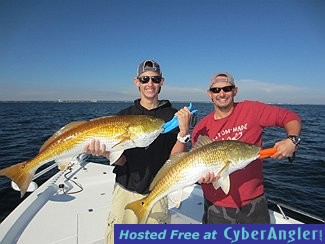 Cold weather means big redfish pensacola fishing charters for How much is a saltwater fishing license in florida