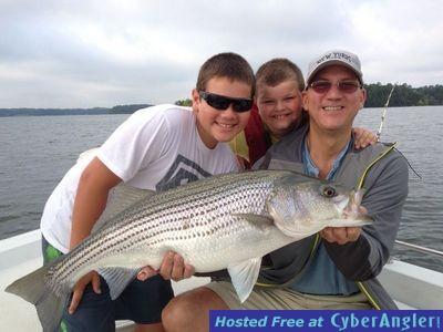 Lake hartwell striper fishing forecast for august 2013 for Lake hartwell striper fishing report