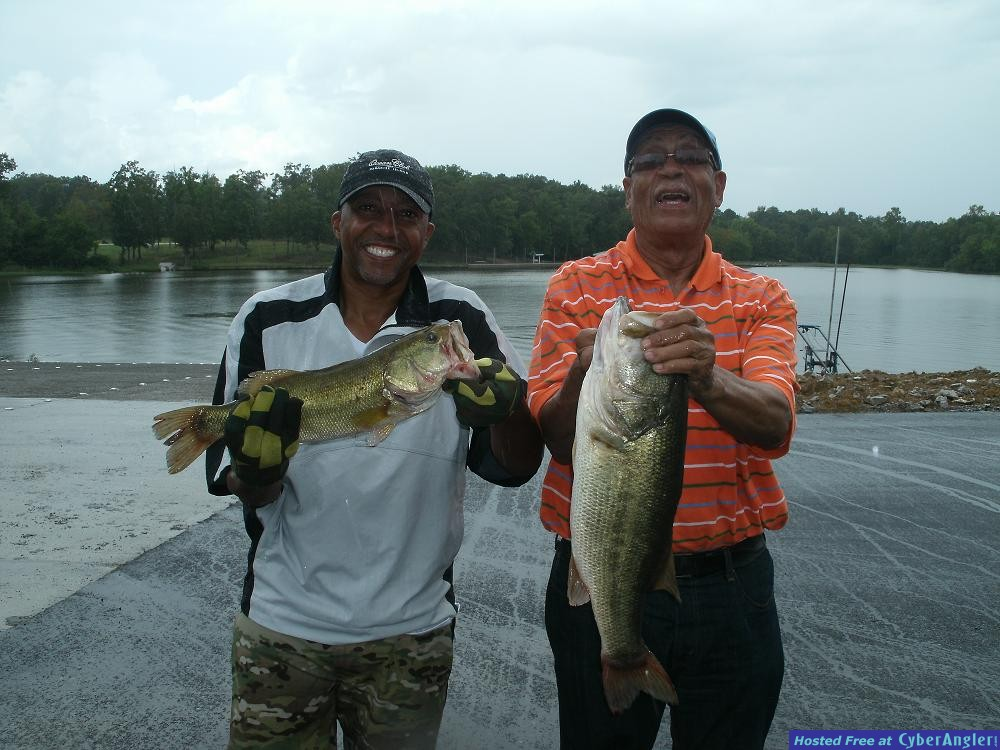 Father and Son Bass Fishing on Alabama's Lay Lake with Reeds Guide Service!