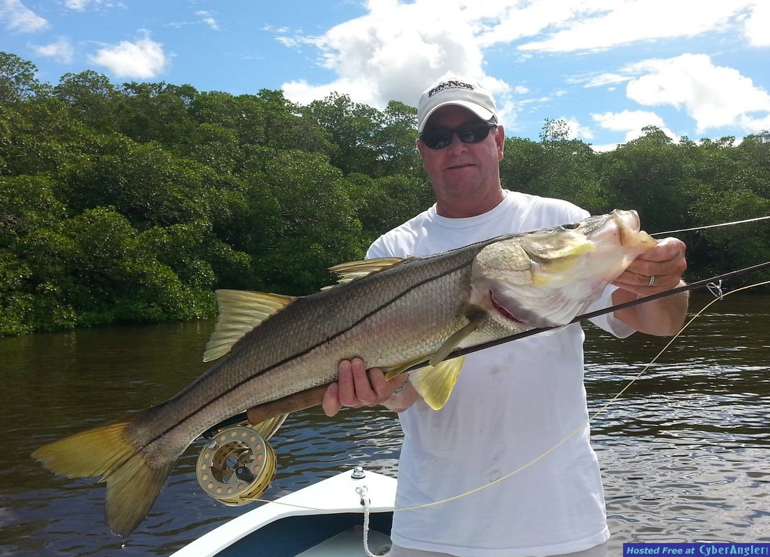 Big Fly Rod Snook in Naples, FL