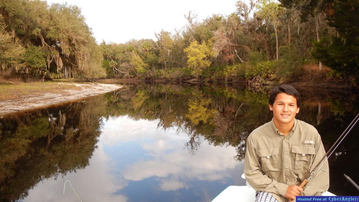 Killian relaxes on the Econ Creek