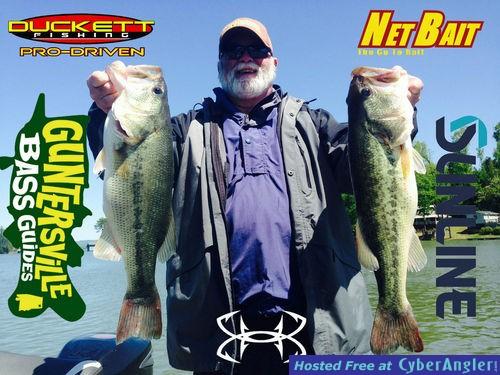 Lake guntersville bass fishing report for Fishing forecast alabama