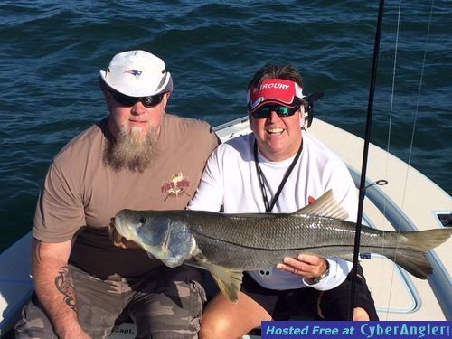 Excellent conditions and fishing for Tarpon springs fishing charters