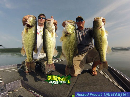 Lake guntersville bass fishing guide report for Lake guntersville bass fishing report