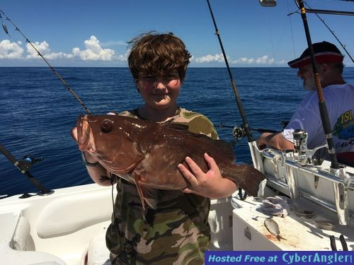 Grouper at 90 feet of water off ft pierce for Port st lucie fishing