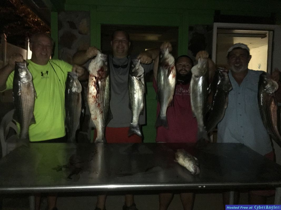 Night time striper fishing with Got You Hooked Guide Service on Lake Martin