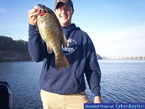 Trophy smallmouth bass in the fall winter seasons for Wheeler lake fishing report
