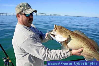 Good gag grouper day for Skyway fishing pier tides