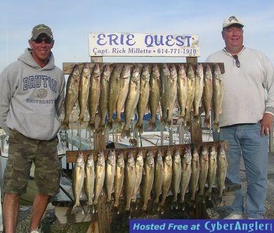Lake erie walleye fishing for Clinton lake fishing report