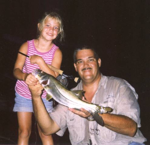 under lights - fishing at night is a prime time to land trophy snook., Reel Combo