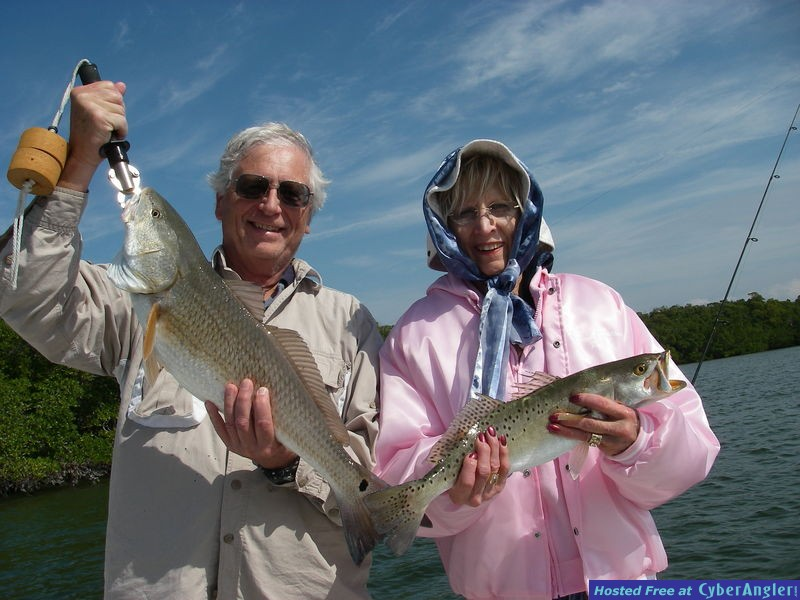 Fat Keeper Redfish and Nice Keeper Trout