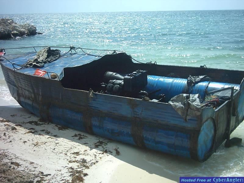 Cuban Rafter boat
