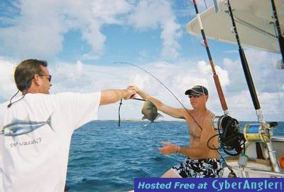 Willie and Todd in Bimini w/a trigger