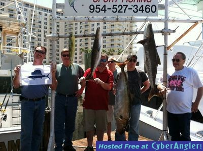 Pair of Cobia caught sportfishing in Ft Lauderdale