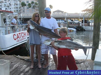 Big cobia caught on Catch MY Drift in Ft Lauderdale