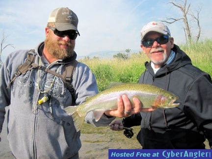 Mike Perez Beaverhead River brown trout caught out of Crane Meadow Lodge, M