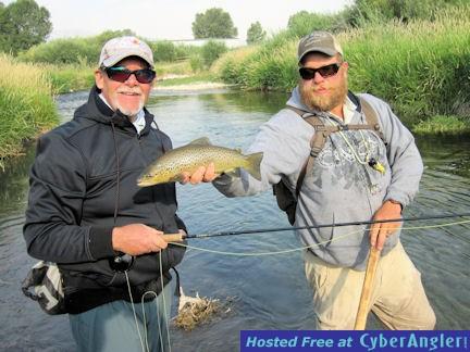 Mike Perez Beaverhead River brown trout