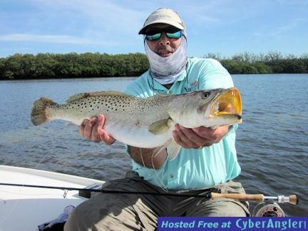Patrice Camillieri Sarasota Bay Grassett Flats Minnow fly 6-lb trout