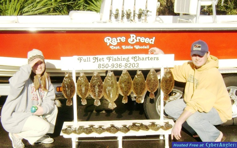 Dawn & David Liked the Pensacola Flounder Fishing!!!