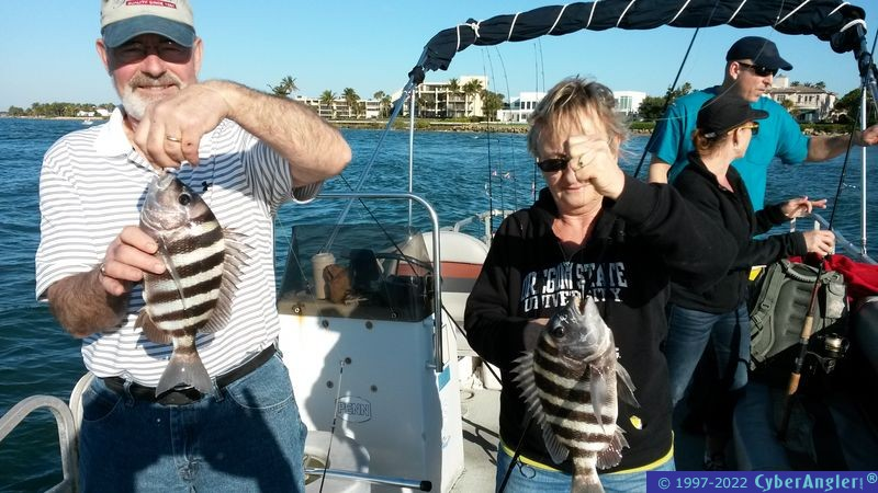 Fishing on the St. Lucie River, FL