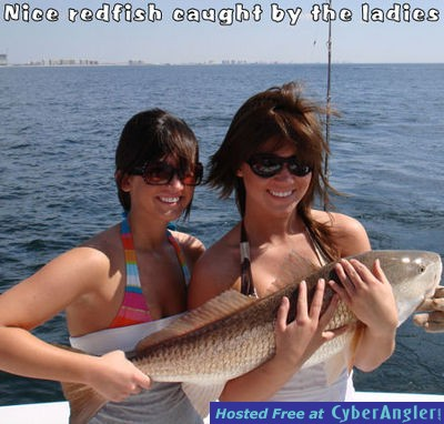 Nice redfish caught by the ladies