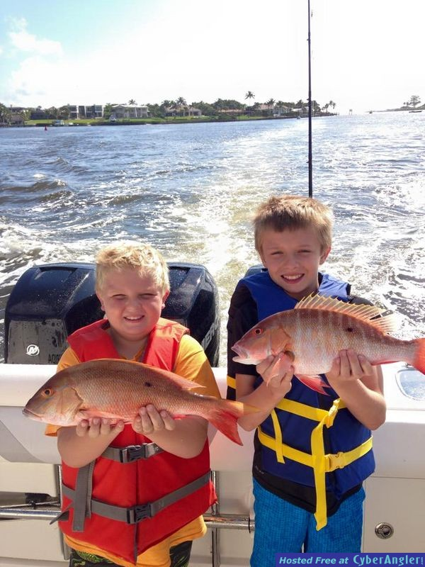 First time Anglers Catch Mutton Snappers