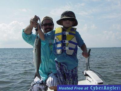 Gage and Jason Pollard Bluefish