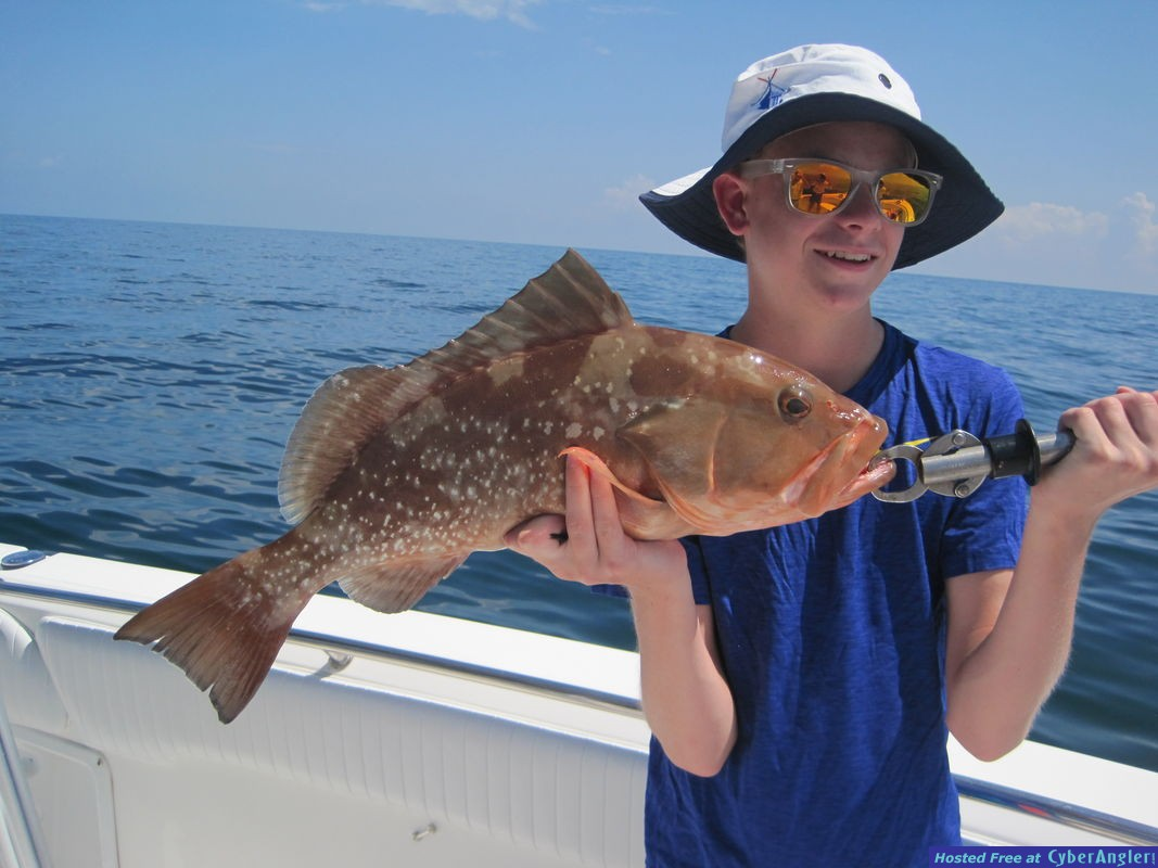 23-inch red grouper-Angus