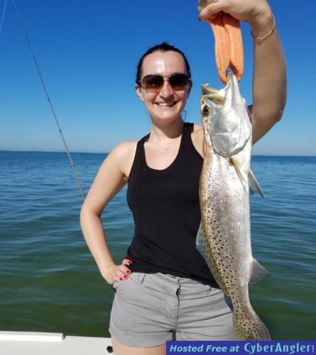 Janice_with_a_trout_caught_in_palm_harbor_while_on_vaction_in_Clearwater_be