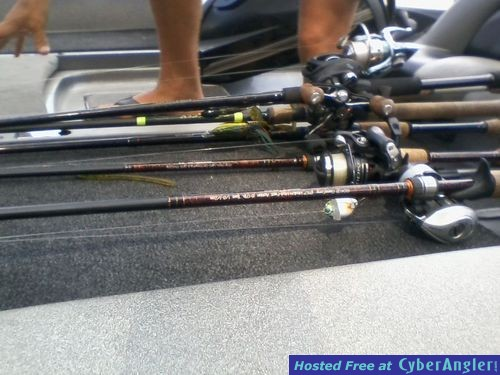 Pre rigged rods for fall fishng