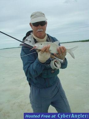 Capt. Frank Rhodes Turneffe Flats Lodge fly bonefish