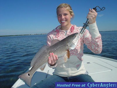 Noelle Beauchamp's Sarasota Bay CAL jig red