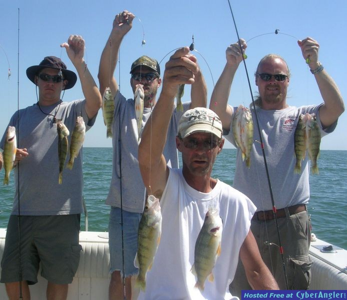 Yellow Perch fishing on Lake Erie